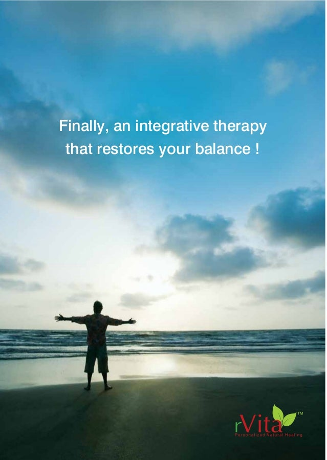 "Finally, an integrative therapy that restores your balance ! rVita Health Centre No.2 ""Tejomaya"", Krishnamachari Avenue, O..."