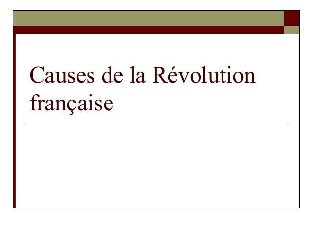 Causes de la Révolution française