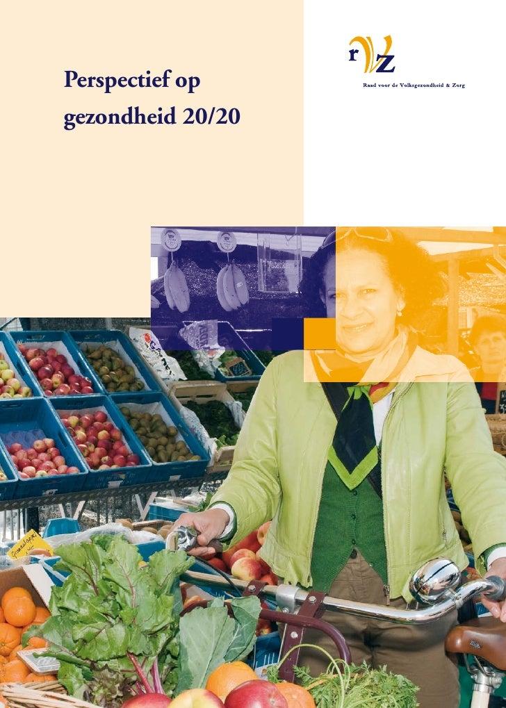 Rvz advies perspectief op gezondheid 20/20