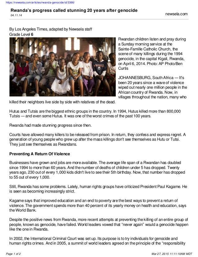 Rwandan genocide homework help