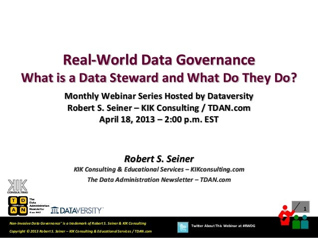 Real-World Data Governance: What is a Data Steward and What Do They Do?