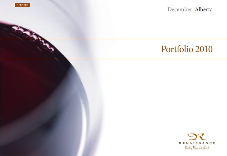 >> ENTER            December |Alberta           Portfolio 2010