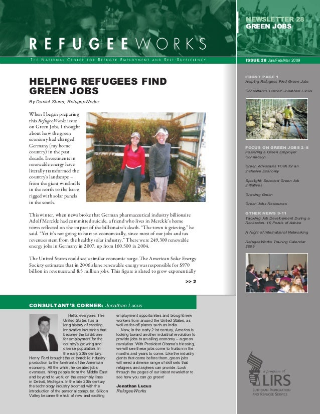 Helping Refugees find Green Jobs