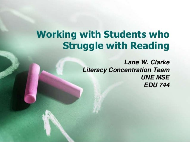 Working with students who struggle with reading