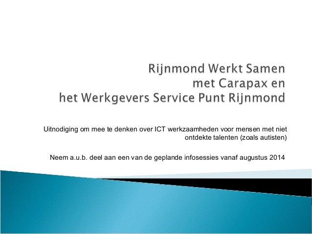 Rijnmond Werkt Samen (Carapax en WSPR)