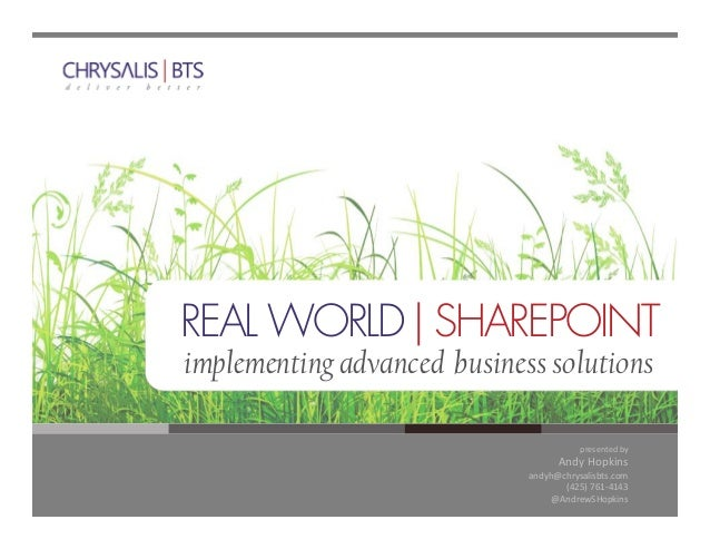 Real World SharePoint - Custom Applications with SharePoint Search