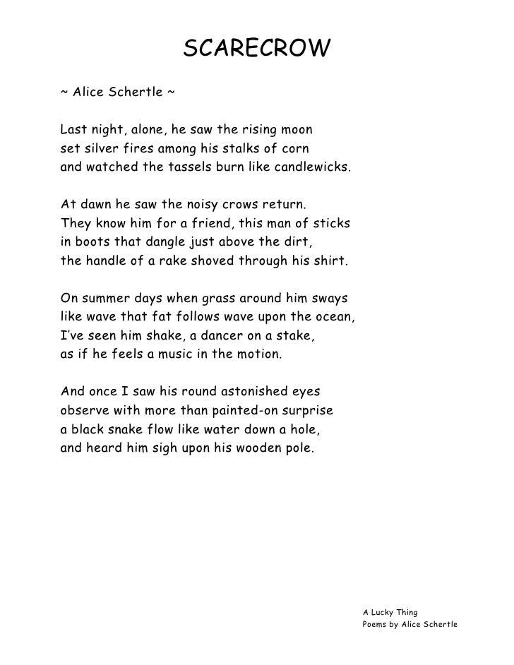 Holly's Hobbie: Scarecrow Poem
