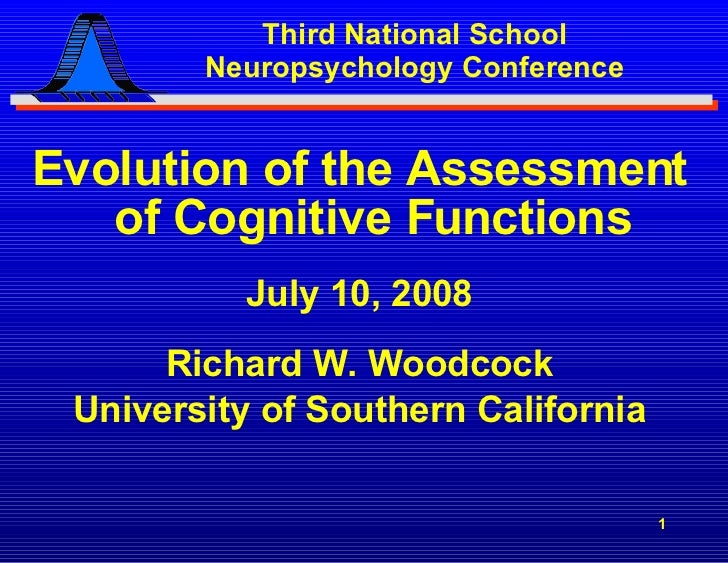 Dr. Woocock's Evolution of Cognitive Assessments