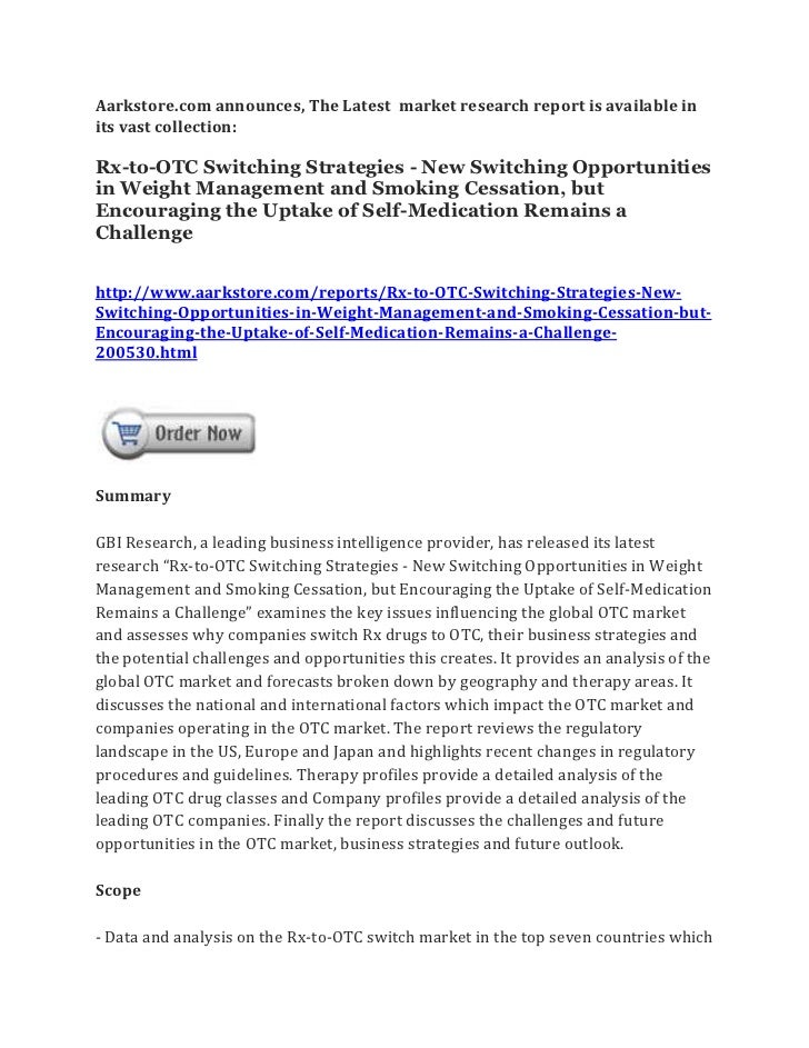 Rx to-otc switching strategies - new switching