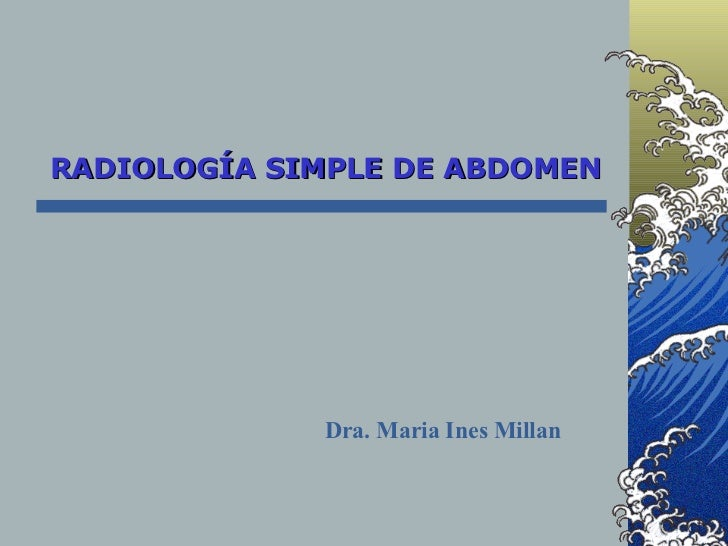 Rx Simple De Abdomen
