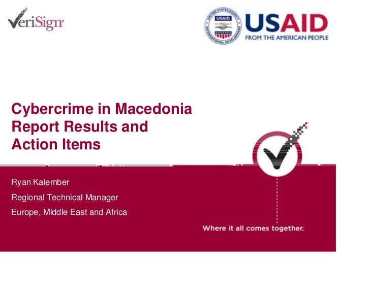 VeriSign Report for Macedonia 18 April 2006