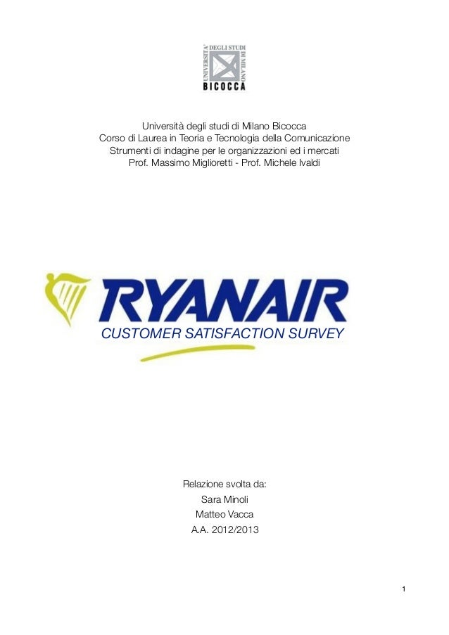Ryanair: Customer Satisfaction Survey
