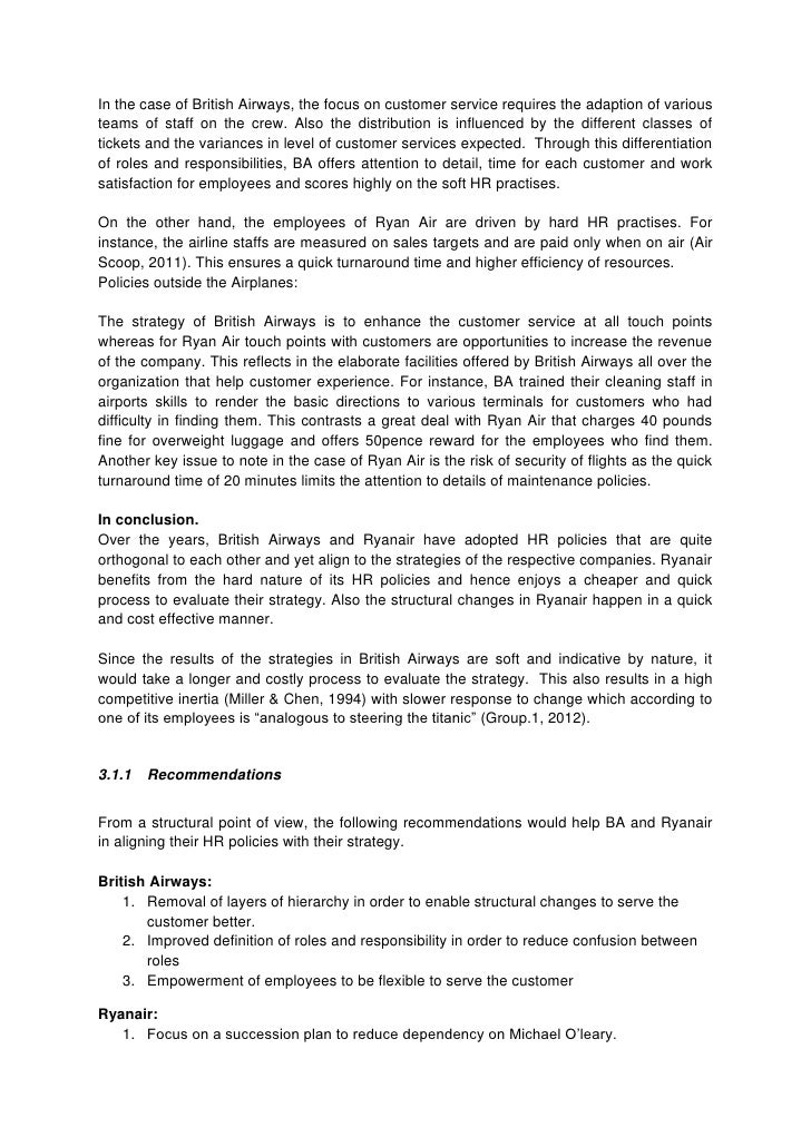 ryanair strategy assignment The ryanair case assignment: read the a case (hbs 9‐700‐115) and what is your assessment of ryanair's launch strategy.