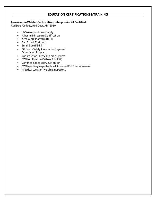 welding inspector resume sample resume tips skills