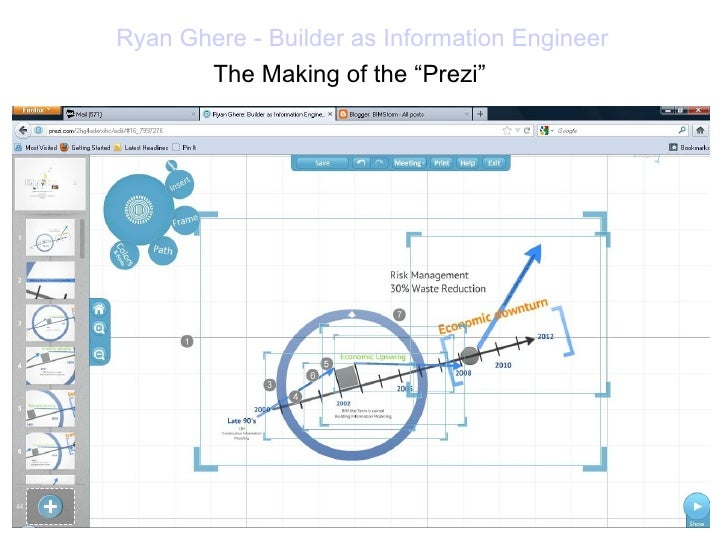 """Ryan Ghere - Builder as Information Engineer       The Making of the """"Prezi"""""""