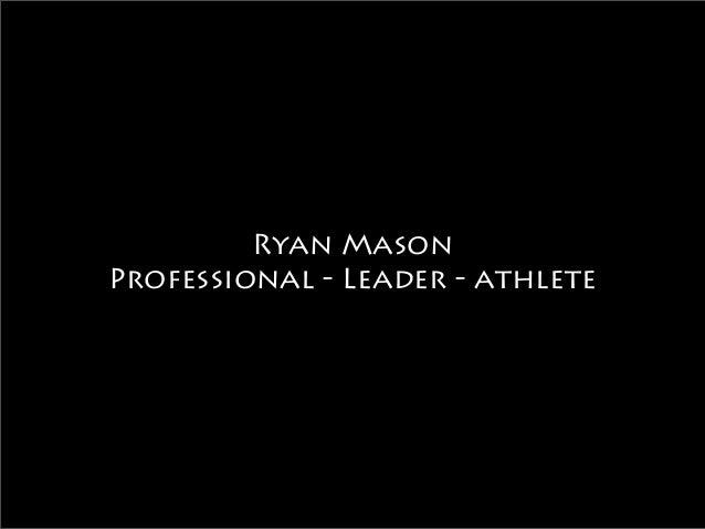 Ryan Mason Visual Resume