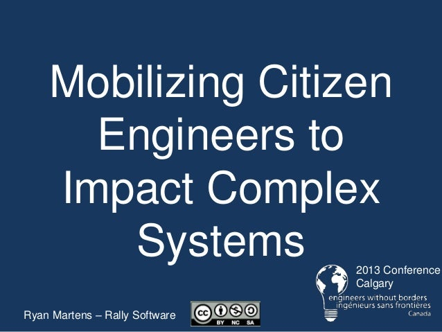 Mobilizing Citizen Engineers to Impact Complex Systems - RallyforImpact