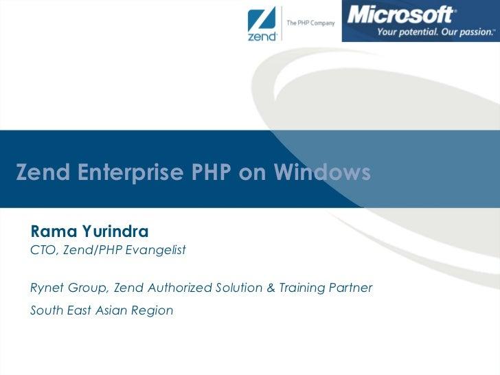 Microsoft TechDays 2011 - PHP on Windows