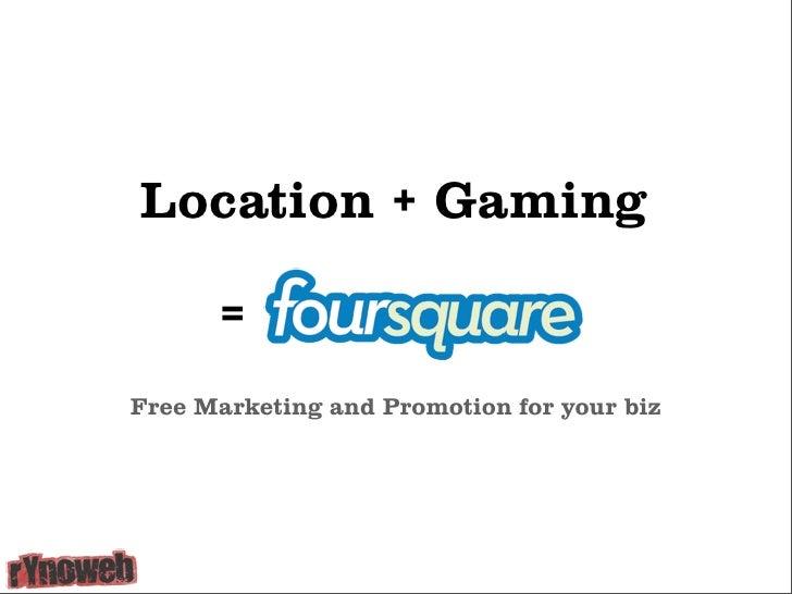 Local Search Marketing using Foursquare