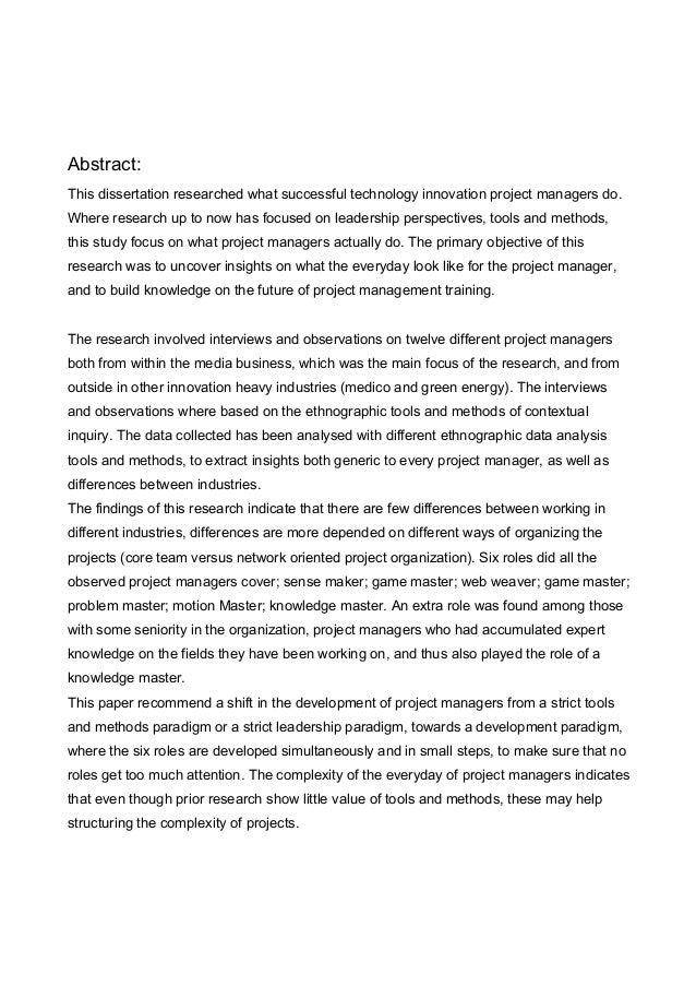 a research on project management Project management issues in construction sites environment - abstract the main purpose of this research is to investigate project management issues in construction sites environment, to recognize which issues are more vital for overall success of any construction project or vice versa and to suggest recommendations for improvement of the performance of all the parties involved in the.
