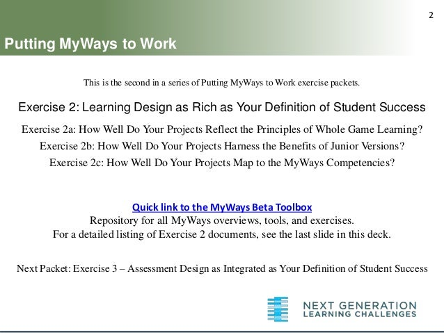 Myways Exercise Learning Design Rich Definition Student Success 638 Cb Dou