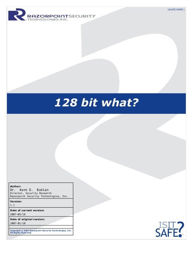 128 BIT WHAT?