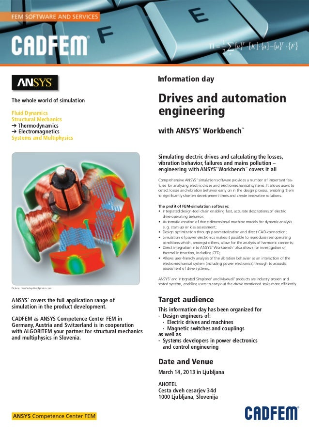 Information dayThe whole world of simulation                          Drives and automationFluid Dynamics                 ...