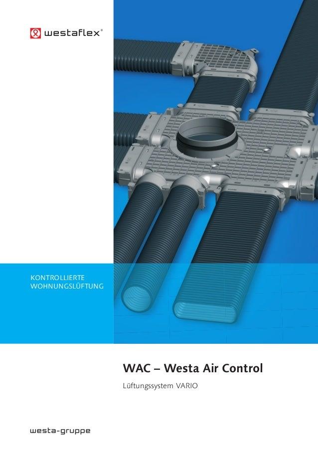 WAc – Westa Air control Lüftungssystem VARIO KONTROLLIERTE WOHNUNGSLÜFTUNG