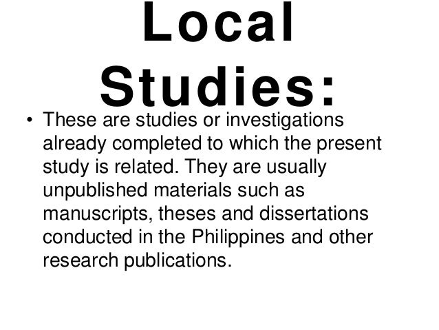 review of related local studies and