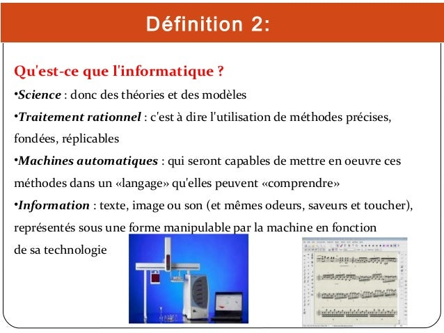 Historique de l 39 informatique for Definition de l