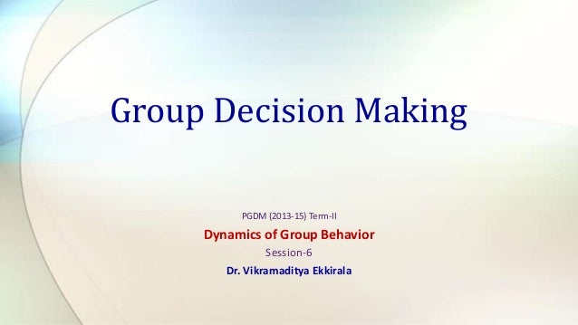 S 6. Group Decision Making