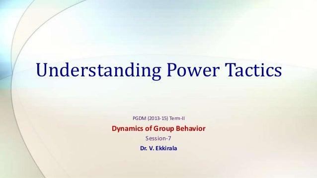 S 7. Understanding Power Tactics