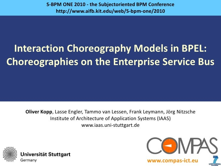 Interaction Choreography Models in BPEL:Choreographies on the Enterprise Service Bus