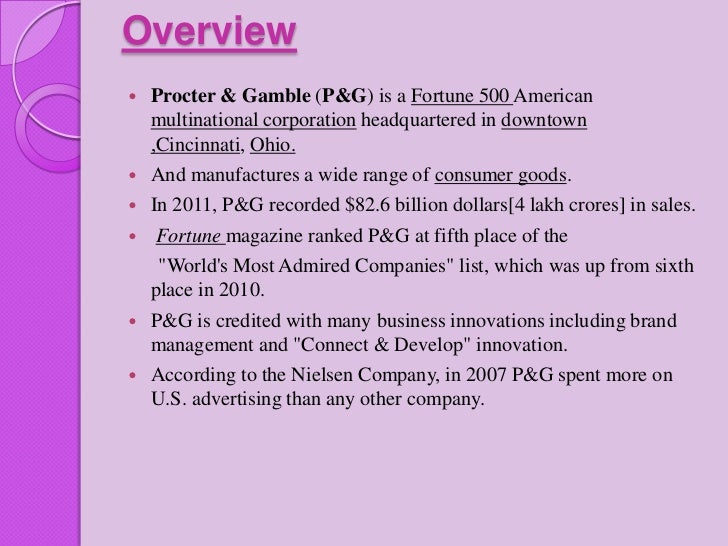 strategic plan procter and gamble Procter & gamble's (nyse:pg) almost 200-year business history is a  yet p&g  is happy with the strategic results so far, since the smaller.