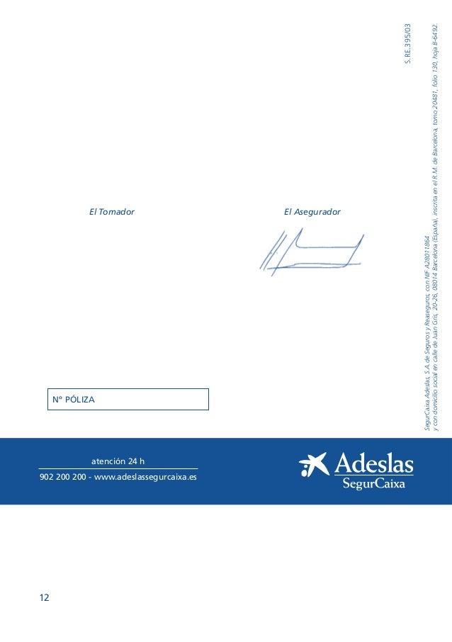 Condiciones generales adeslas plena for Oficinas de adeslas en barcelona