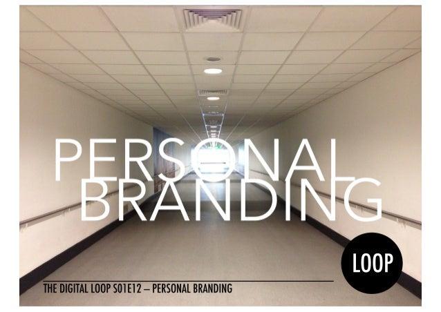 S01E12 Personal Branding Quotebook — The Digital Loop