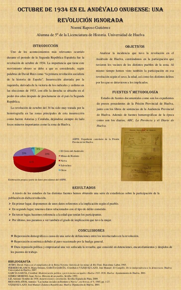 octubre de 1934 en el Andévalo onubense: una                                                  revolución ignorada         ...