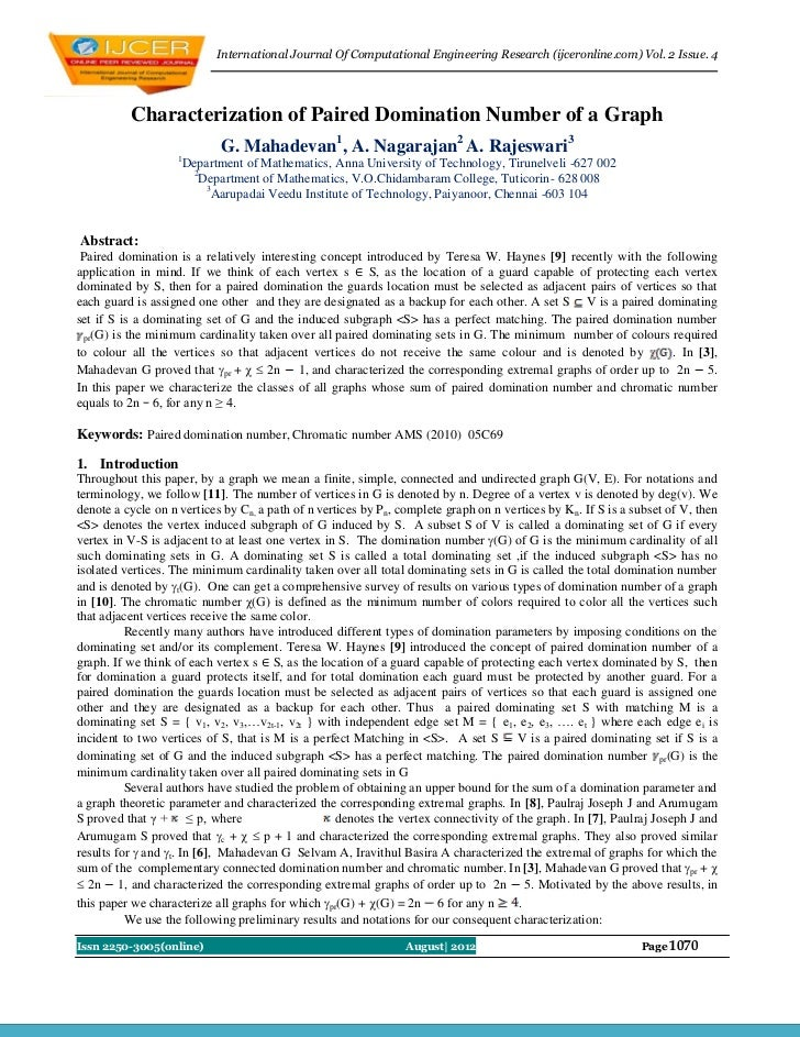 International Journal Of Computational Engineering Research (ijceronline.com) Vol. 2 Issue. 4          Characterization of...