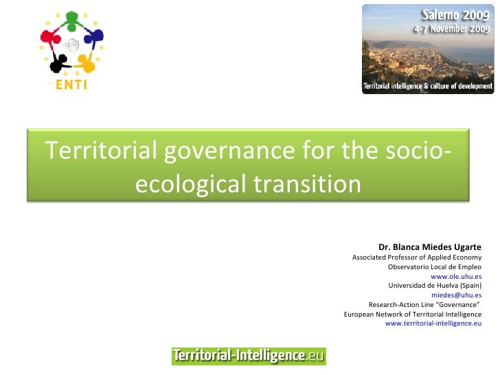 Territorial governance for the socio-ecological transition (Blanca Miedes Ugarte)