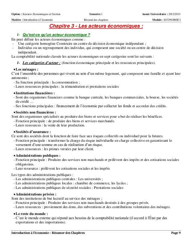 s1 introduction 224 l 233 conomie politique r 233 sum 233 s des chapitres