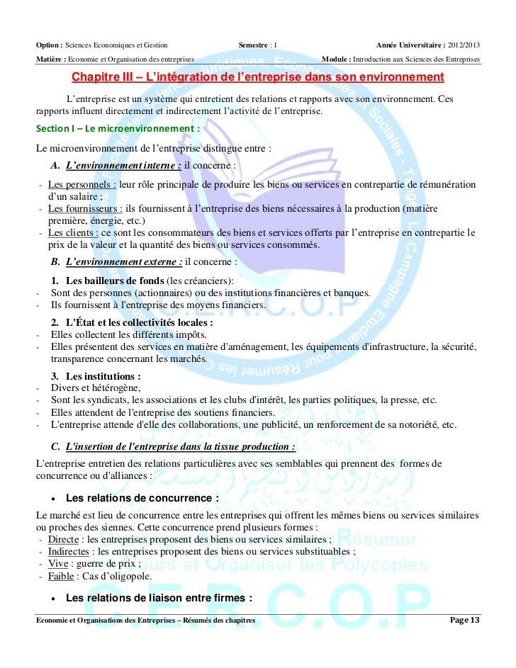 Dissertation statut juridique entreprises