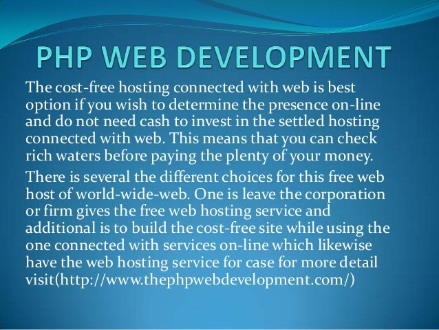 The cost-free hosting connected with web is bestoption if you wish to determine the presence on-lineand do not need cash t...