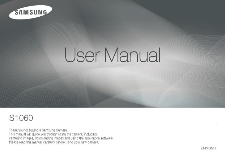 Samsung Camera S1060 User Manual
