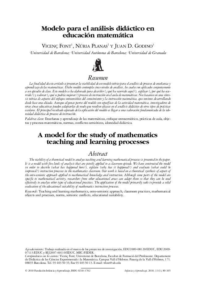 10. FONT   17/12/09       11:53       Página 89                         Modelo para el análisis didáctico en              ...