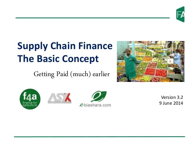 Supply Chain Finance The Basic Concept