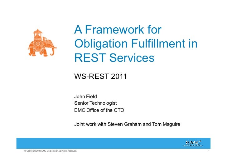 A Framework for Obligation Fulfillment in REST Services