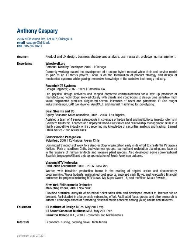Book on resume