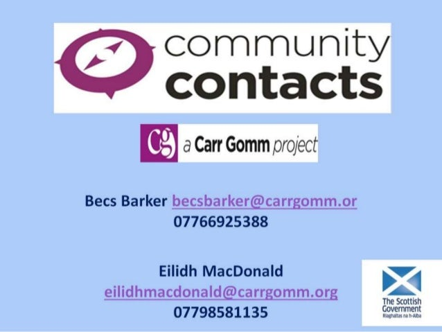 Community Contacts Carr Gomm S14