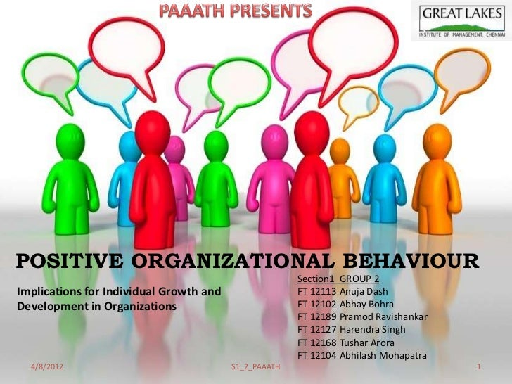 organisational behavior The workplace communication website defines organizational behavior as how employees act as individuals within the company and how they interact as part of work groups.