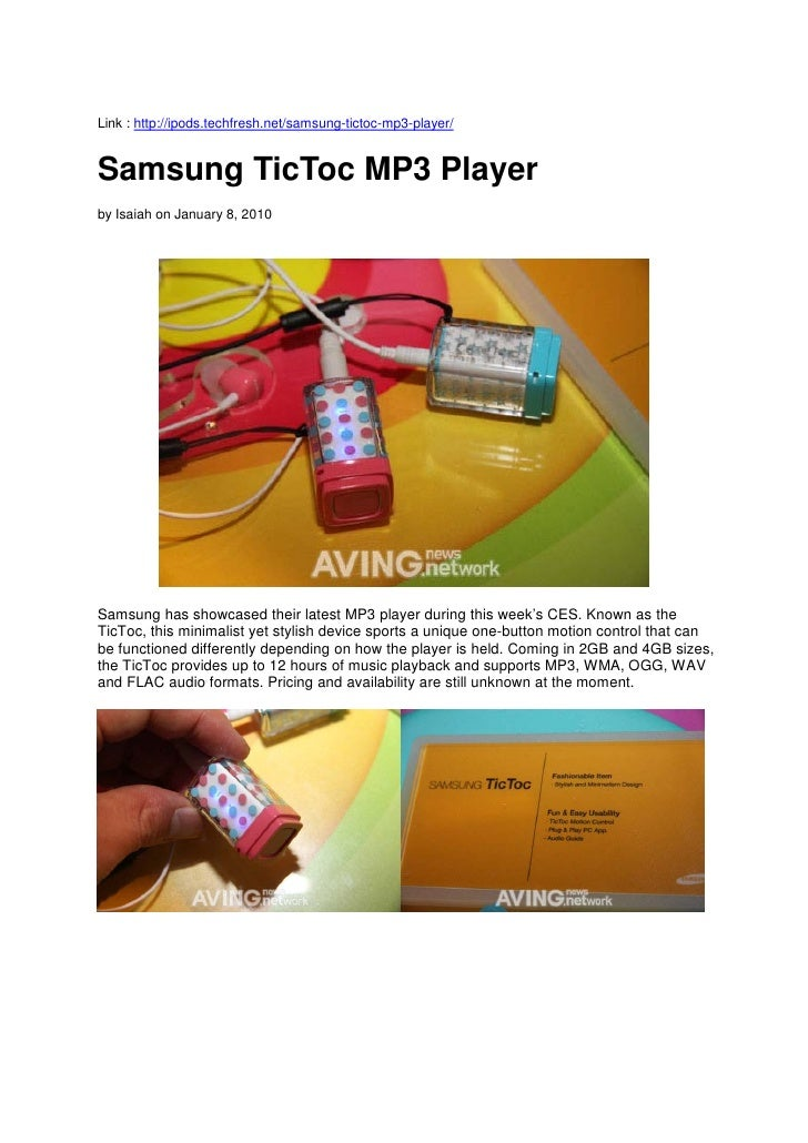 Samsung Tic Toc Showcase image and reviews